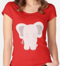 Elephant - jumbo GREY Women's Fitted Scoop T-Shirt