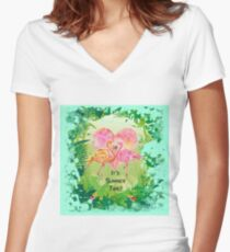 R18#8 Women's Fitted V-Neck T-Shirt