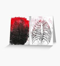 Damaged Ribs Greeting Card