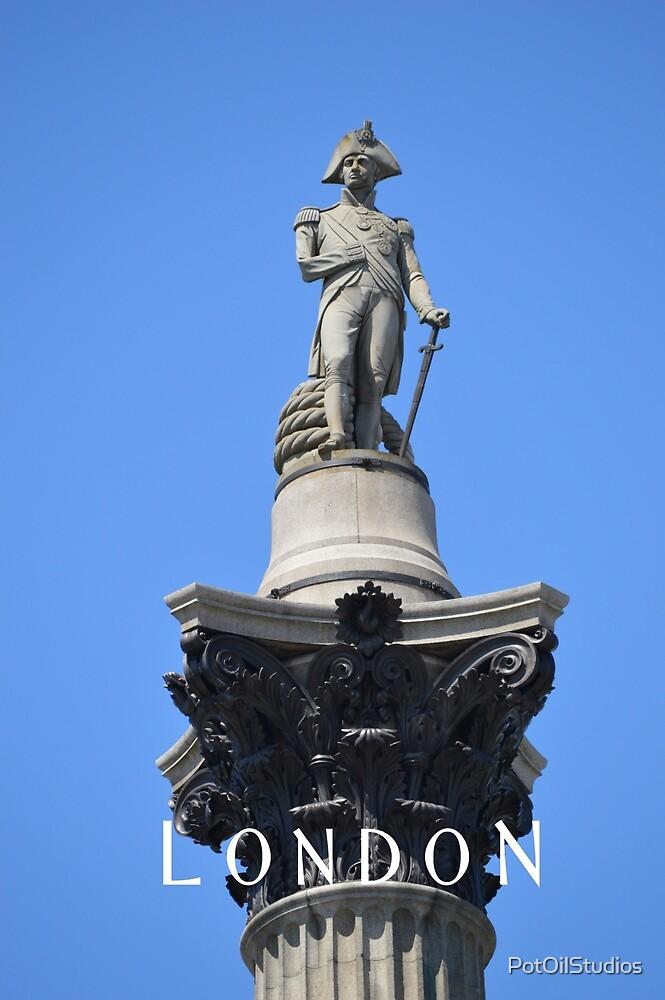 Nelson's Column, Trafalgar Square, London by PotOilStudios