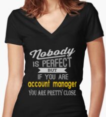 ACCOUNT MANAGER LATEST DESIGN Women's Fitted V-Neck T-Shirt