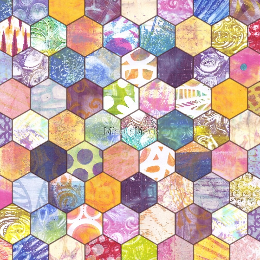 Painted Hexagons by MissusMack