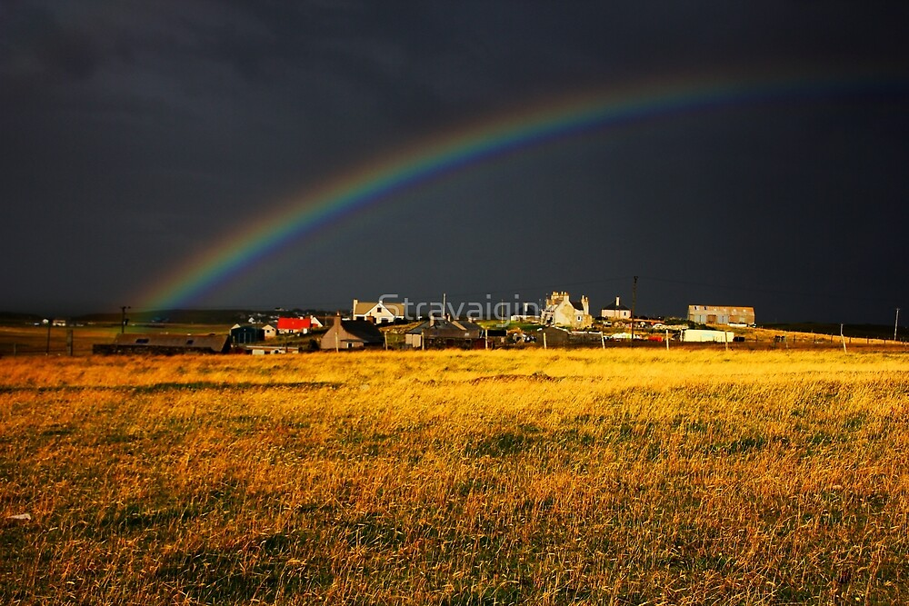 Rainbow, then the storm, Isle of Lewis, Outer Hebrides, Scotland by Stravaigin