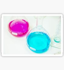 Chemical flasks in Industrial Chemistry Laboratory Sticker