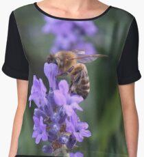 Bee on Lavender 2 Chiffon Top