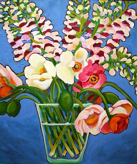 Poppies & Snapdragons by marlene veronique holdsworth