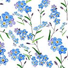 forget me not pattern  by ColorandColor