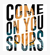 Come On You Spurs COYS Photographic Print