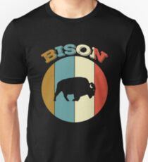 Bison - Classic Vintage Retro Lovely Animal Tee Gifts T-Shirt
