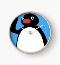 Hello pengu Clock