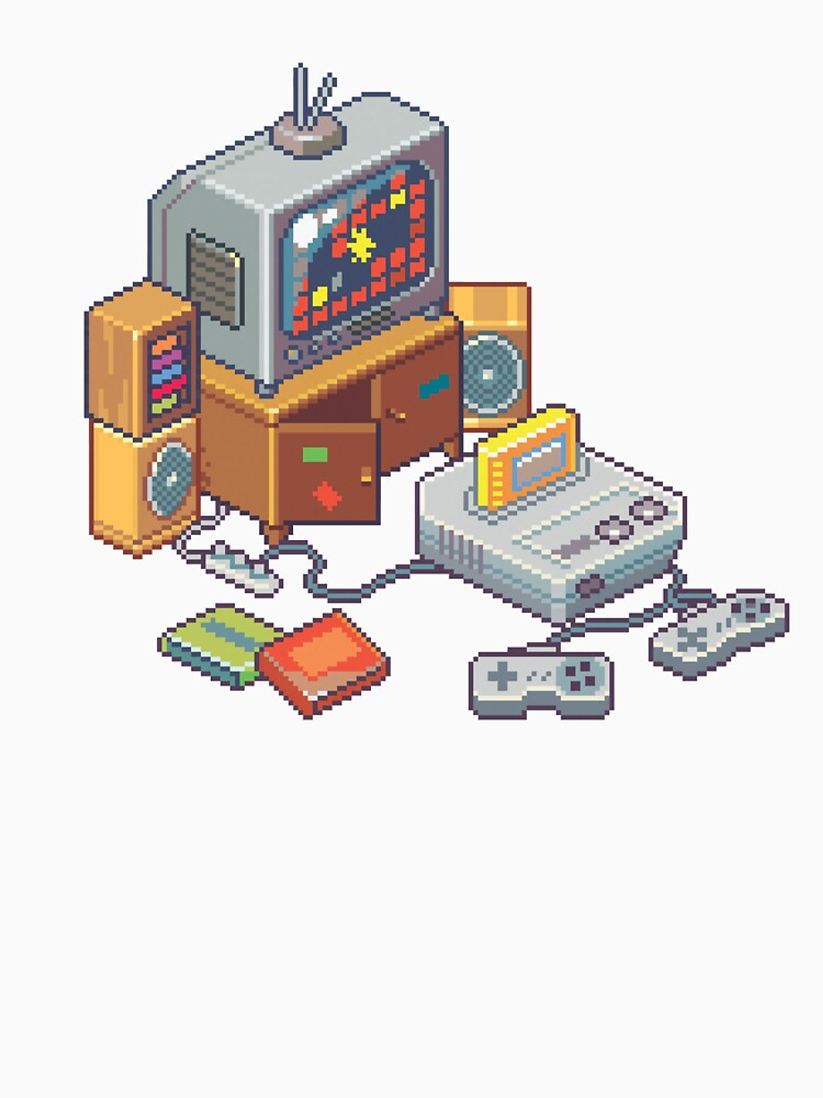 Retro gaming console by raynoa