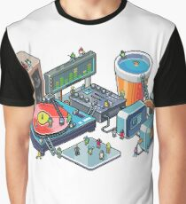 Pixel music party Graphic T-Shirt