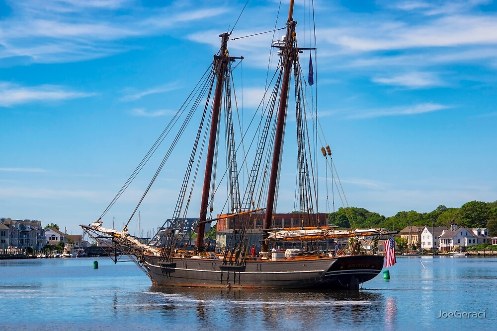 The Amistad Departs Mystic by JoeGeraci