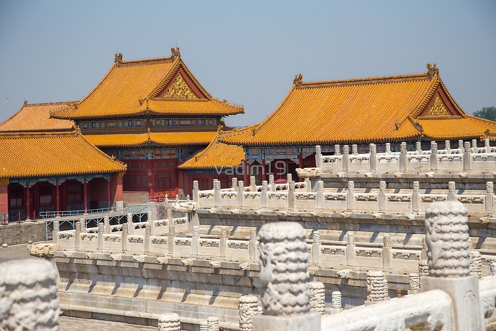 China. Beijing. The Forbidden City. Buildings & Fences. by vadim19
