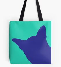 Contrast cat blue Tote Bag