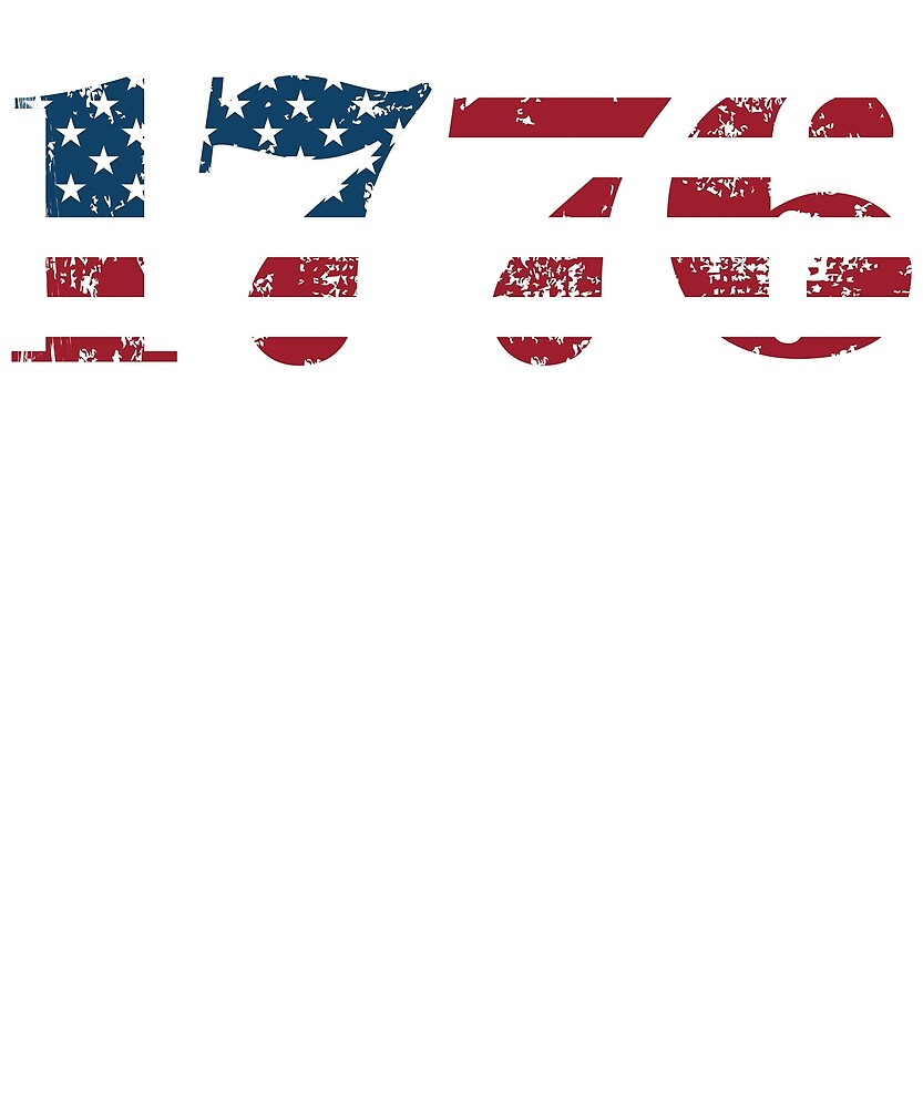 Vintage 1776 4th of July T-Shirt for Patriots by James  Jones