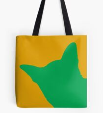 Contrast cat green Tote Bag