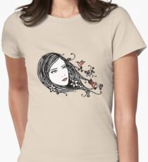 Hummingbirds Womens Fitted T-Shirt