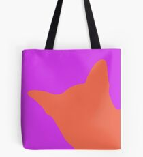 Contrast cat pink Tote Bag