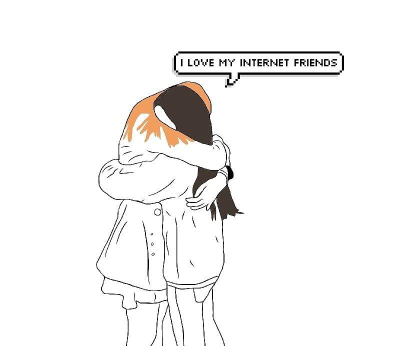 I love my internet friends by Jennifer Ellinsworth