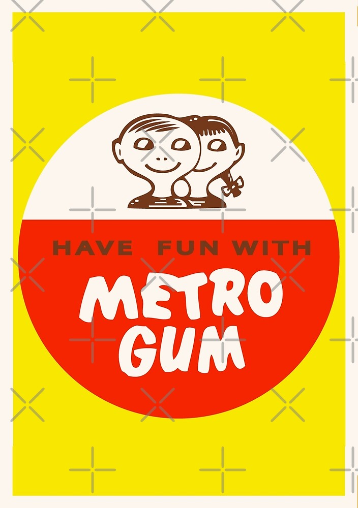 Scanlens Metro Gum logo 1960s by Darian  Zam