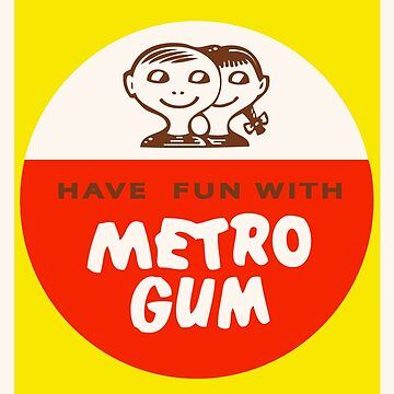 Scanlens Metro Gum logo 1960s by darianzam