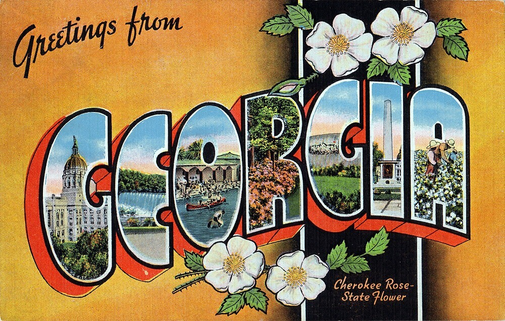 Vintage Greetings from Georgia by pdgraphics