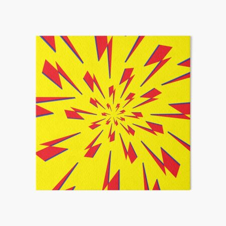 Yellow Lightning Vortex  Art Board Print