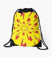 Yellow Lightning Vortex  Drawstring Bag