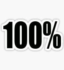 100 Percent Sticker