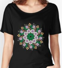 Pastel Flower Circle Women's Relaxed Fit T-Shirt