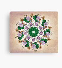 Pastel Flower Circle Canvas Print