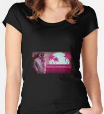 Hotline Miami high res Women's Fitted Scoop T-Shirt