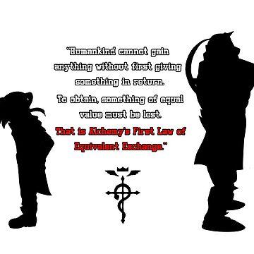 """Full Metal Alchemist Equivalent Exchange Quote"" Unisex T ..."