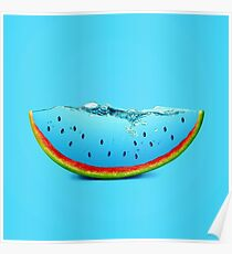 Blue watermelon Poster