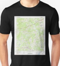 USGS TOPO Map Georgia GA Auburn 244943 1964 24000 Unisex T-Shirt