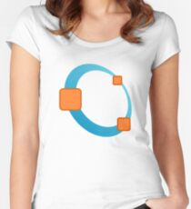 GNU Octave Logo Women's Fitted Scoop T-Shirt