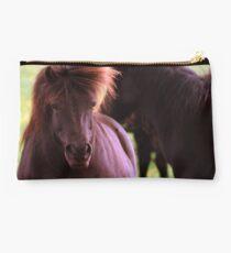 Wild Shetland Pony Portrait Studio Pouch