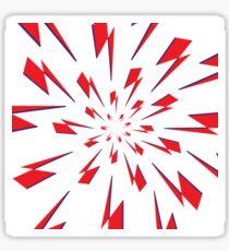 White Lightning Vortex Sticker