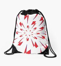 White Lightning Vortex Drawstring Bag