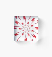 White Lightning Vortex Acrylic Block