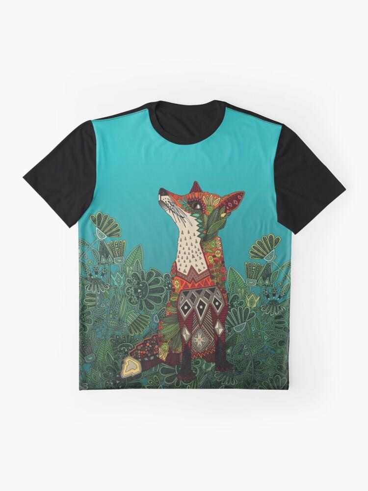Alternative Ansicht von Blumenfuchs Grafik T-Shirt
