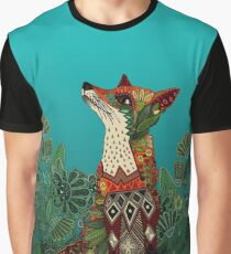 floral fox Graphic T-Shirt