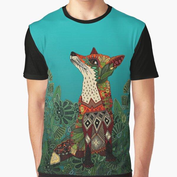floral fox Graphic T-Shirt