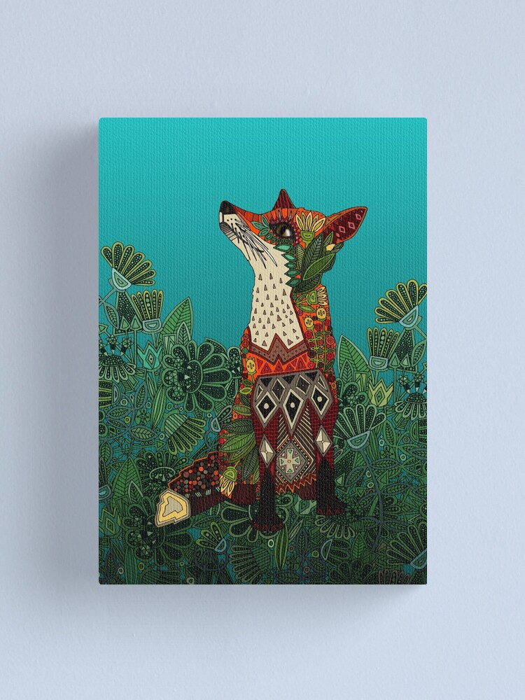 Alternate view of floral fox Canvas Print