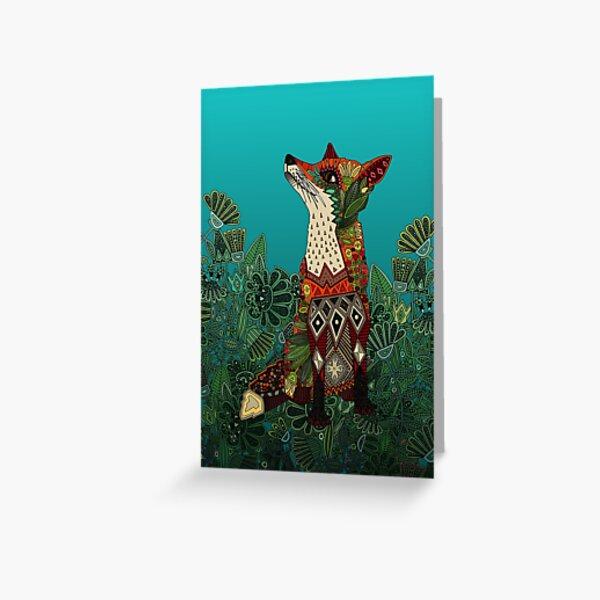 floral fox Greeting Card