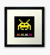 Invader from space  Framed Print