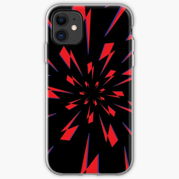 Black Lightning Vortex iPhone Soft Case