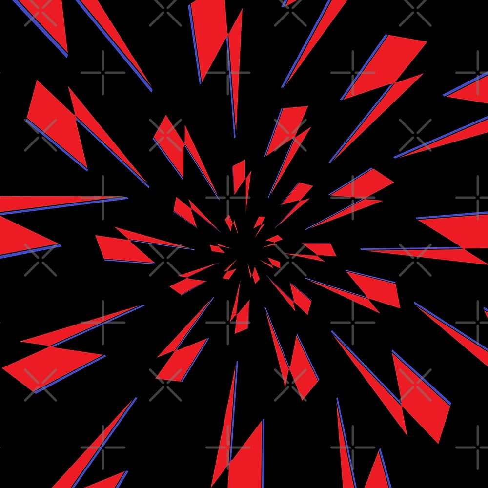 Black Lightning Vortex by Laura Schantz
