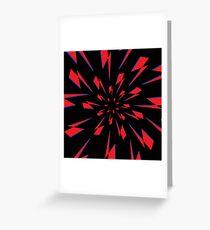 Black Lightning Vortex Greeting Card